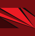 abstract red black triangle geometric speed vector image vector image