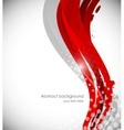 Abstract wavy red background vector