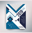 annual report template modern design with blue vector image vector image