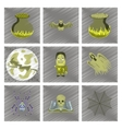 assembly flat shading style icon halloween cute vector image