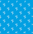 bamboo pattern seamless blue vector image