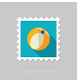 Beach Ball flat stamp Summer Vacation vector image vector image