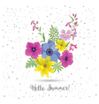 Beautiful Greeting Card with Flowers vector image