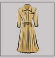 beige dress basic wardrobe a minimalist vector image vector image