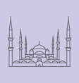 Blue Mosque Istanbul vector image vector image