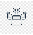 bot concept linear icon isolated on transparent vector image