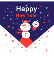 bright new year card with snowmen vector image vector image