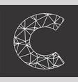 c geometric triangle block chain font vector image vector image