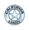 california ranger badge american justice emblem vector image vector image