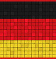 card stunt or mosaic flag of germany vector image vector image