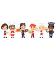 cartoon catering professionals workers vector image