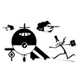 cartoon long mustache man in the airport vector image