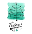 Christmas and New Year Card with hand drawn doodle vector image vector image