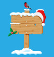 christmas wooden signboard isolated vector image