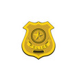 color image police badge policeman vector image