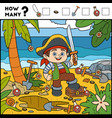 counting game for preschool children pirate boy vector image vector image