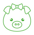 cute and tender female piggy kawaii style vector image