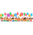 cute children faces birthday vector image vector image