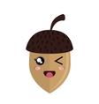 cute nut kawaii style vector image