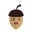 cute nut kawaii style vector image vector image