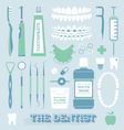 Dentist and Tooth Care Icons vector image
