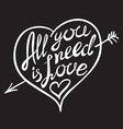 Digitally generated All you need is love vector image vector image