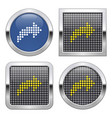 dotted icon right curved arrow on glossy vector image vector image