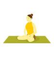easy pose yoga meditation vector image vector image