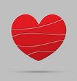 element heart love symbol of romance vector image