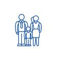 european family line icon concept european family vector image
