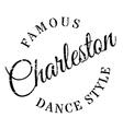 Famous dance style Charleston stamp