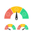 feedback concept design emotions scale isolated on vector image vector image
