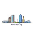 flat line kansas city banner vector image vector image
