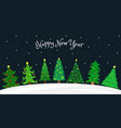 flat with set of 7 decorated christmas tree vector image vector image
