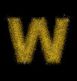 gold dust font type letter w vector image vector image