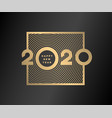 happy new year gold numbers 2020 on a dark vector image vector image