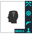 head idea icon flat vector image