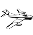 jet airplane vintage vietnam war vector image vector image