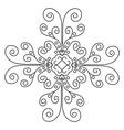 Lace pattern mandala vector image