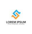letter s logo design concept template vector image vector image