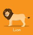 lion flat african wildlife wild animal vector image