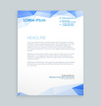low poly letterhead design vector image vector image