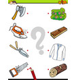 match objects educational activity game vector image vector image