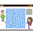 maze or labyrinth activity game vector image vector image