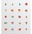 Modern abstract geometric info banner set vector image