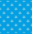 molecule lab pattern seamless blue vector image vector image