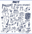 party cool fun nice poster vector image vector image