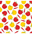 pattern with bulgarian pepper and chilli vector image vector image