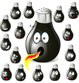 pepper shaker cartoon with many expressions vector image vector image