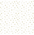 seamless repeating pattern golden snowflakes vector image